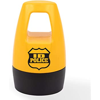 ID Police Protection Roller BulbHead Helps Stop ID Theft - Fast, Easy, Mess-Free, Self-Inking Identity Thief Stamp, Just One Roll Conceals Your Important Information, Yellow