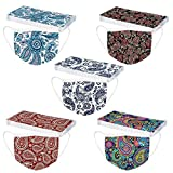 CHESEN 50Pc Adults Face Mask Paisley Print 3 Ply Earloop Breathable Disposable Face Masks Anti Dust Safety Mask for Women
