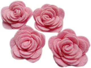 32 Wool Blend Felt 3D Roses Die Cut Applique Flowers Spring Vacation OTR Felt Made in USA