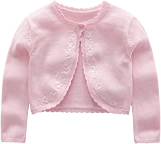 ZPW Baby Toddler Girls' Long Sleeve Floral Embroidered Knit Cardigan Shrug