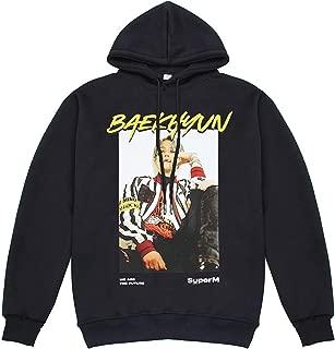Kpop Super M Portrait Hoodie Mark Kai Baekhyun Taeyong Sweater Pullover Sweatshirt