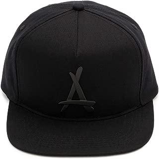 "Tha Alumni Clothing (アルムナイクロージング) スナップバックキャップ ブラック×ブラックロゴ フラットバイザー""BLACKOUT PRESIDENTIAL"" [並行輸入品]"