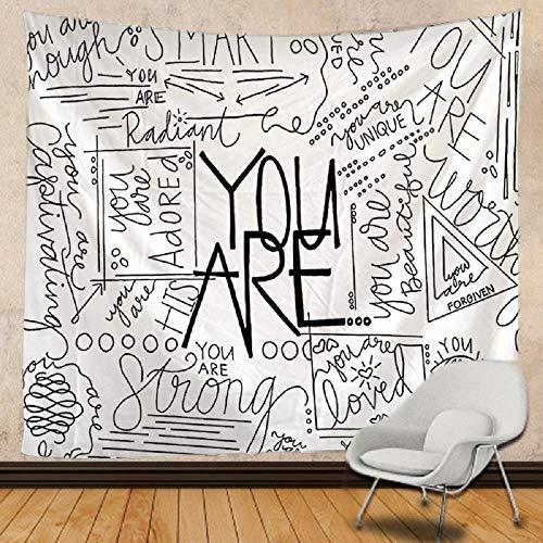 Usted es tapiz de tela de fondo Mandala tapiz de pared colchón de viaje decoración bohemia-150x100cm