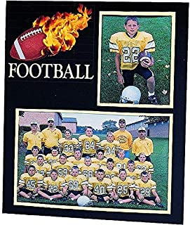 Football Player/Team 7x5/3.50x5 MEMORY MATES cardstock double photo frame sold in 10's - 5x7