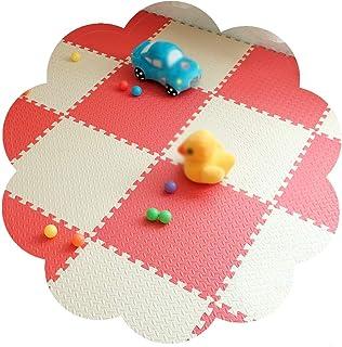 YANGJUN Interlocking Foam Mats Kids Non-slip Care Durable Easy To Clean EVA Countryside Gym Thicken, 2.5cm Thick (Color : ...