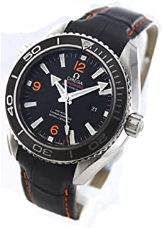 Planet Ocean Black Dial Black Leather Unisex Watch 23233382001002