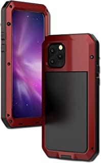 iPhone 11 Pro Case,Full Body Shockproof Metal Outdoor Military Grade Drop Protection Case with Gorilla Glass Screen Protector Cover for iPhone 11 Pro(TK-Red)