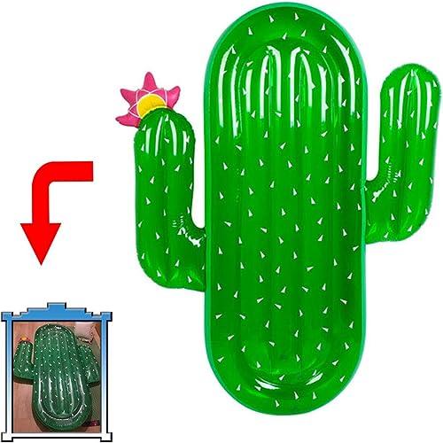 TZTED Schwimmring Aufblasbar Kaktus Schwimmende Reihe Schwimmsitz Aufblasbares Pool Wasserspielzeug Sommer Spaß