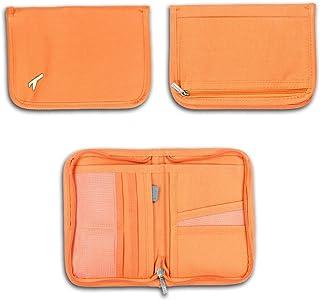 REALMAX® Passport and Document Holder Cover Case Travel Wallet for Family Men Women Safe Polyester Canvas European Organis...