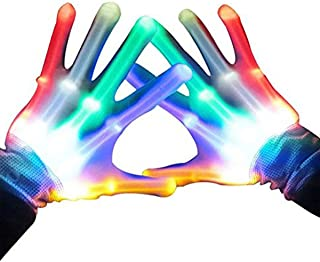 ATOPDREAM Cool Fun Toys for 3-12 Year Old Boys Girls, Flashing LED Light Gloves Glow Gloves Autism Toys for Age 3-12 Boys ...