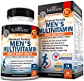 Men's Multivitamin Advanced Formula with Zinc, A, B, C, D3, E Vitamins - Daily Supplement for Heart Health Support - Promotes Mental Clarity & Focus - for Whole Body Health