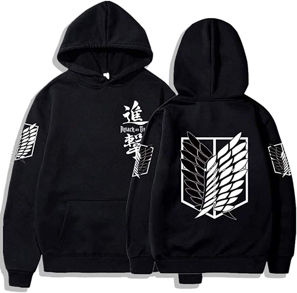 Attack On Titan Hoodie- Casual Long Hood Anime 3D Sleeve Al sold out. Mesa Mall Printed