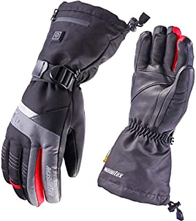 Masontex Heated Gloves for Men Leather Hand Electric Warmers with Rechargeable Li-ion Battery