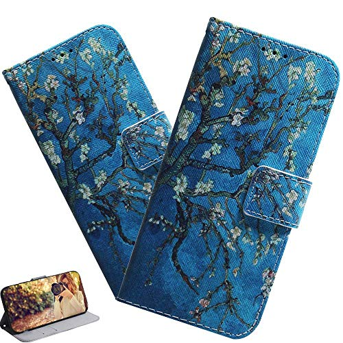 LEMAXELERS Custodia iPhone 13 PRO Max Cover Portafoglio,iPhone 13 PRO Max Custodia Pittura Colorata Wallet Shock-Absorption Magnetica Supporto Bumper Cover Leather Flip Cover,TX Blue Almond