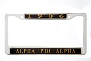 Alpha Phi Alpha Fraternity New Metal License Plate Frame