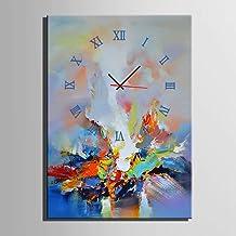 Woonkamer home decoratie grote kleur abstracte schilderen met olieverf decoratieve klok computer inkt schilderij olieverfs...