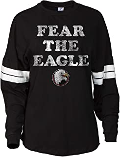 Official NCAA Bridgewater College Eagles Women's Striped Oversized Football Tee