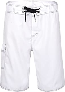 Nonwe Men's Beach Shorts Soft Quick Dry Soild Lightweight White 32