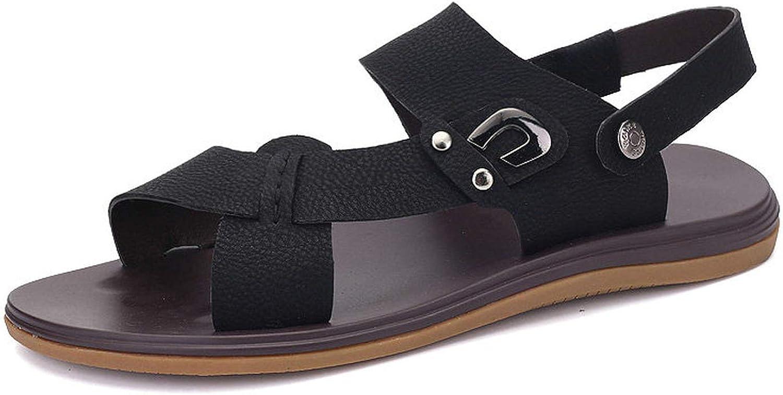 FINDDU Män Genuine läder läder läder Sandals sommar Wading strand skor Handgjorda Slippers läder Casual skor Flip Flops 36 -47,bspringaaa,7  hög rabatt