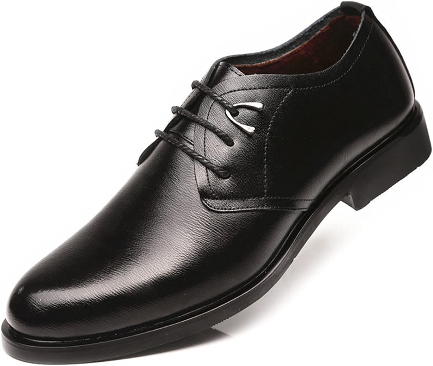 XIANGBAO-Personality Classic Men's Formal Oxfords PU Leather Lace Up Soft Sole Flats Dress shoes