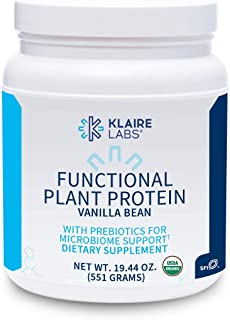 Klaire Labs Functional Plant Protein with Prebiotics - Vanilla Bean (582 Grams / 15 Servings)
