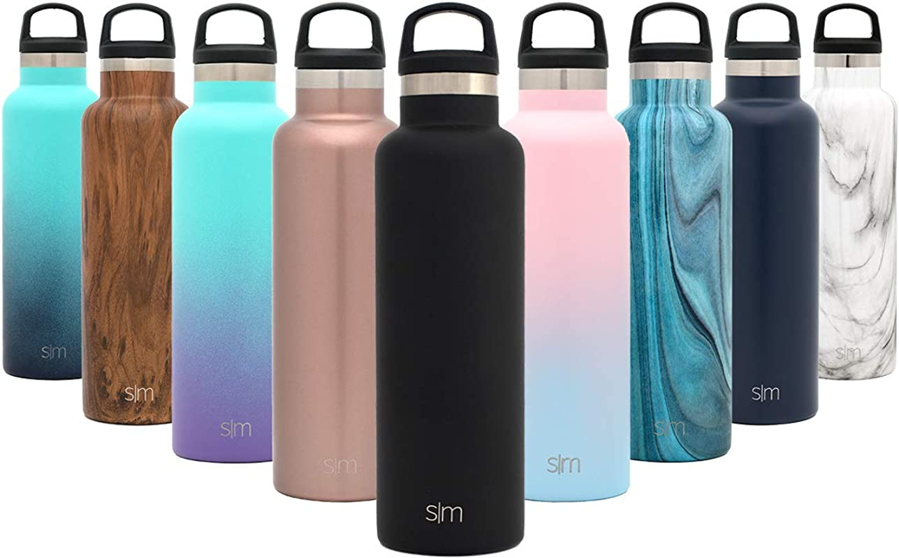 Simple Modern Ascent Water Bottle Narrow Mouth Vacuum Insulated Double Wall 18 8 Stainless Steel Powder Coated