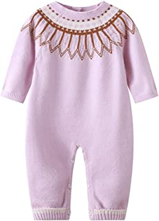 Newborn Baby Romper Kid Jumpsuit Knitted Infant Outfit Clothes Long Sleeve Baby Rompers Overalls of Toddler