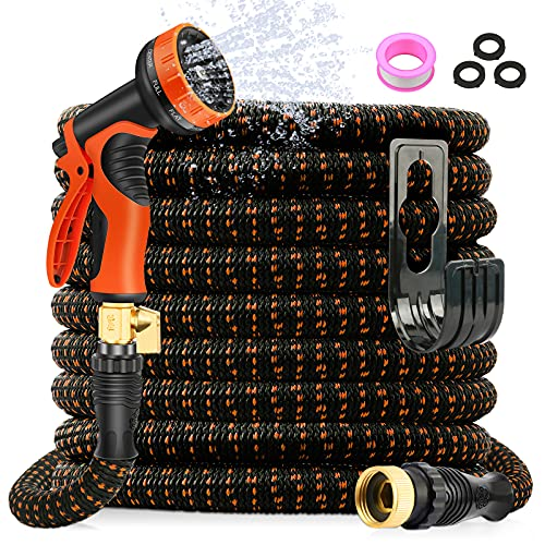 AXUAN Expandable Garden Hose 50ft - Expanding Flexible Water Hose with...