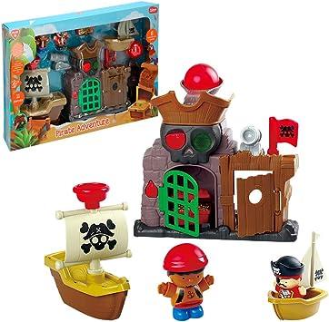 Bateau Pirate avec Lumi/ère et Son PlayGo 46397 Jouet de Premier Age