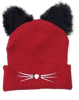 NW 1776 Cat hat Beanies for Women Knitting 2018 New Black