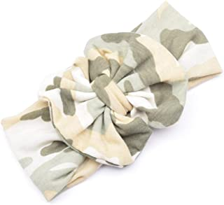 Ecosin Baby Kid Girl Camouflage Bowknot Hairband Turban Bowknot Headwrap Hairband