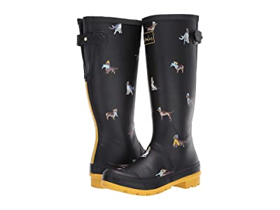 Joules Welly Print (Black Dogs) Women