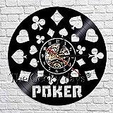 fdgdfgd Diseño Reloj Poker King Lamika Reloj de Pared Disco de Vinilo Negro Colgante de Pared 3D Naipes Decoración de Pared Moderno   Regalo Hecho a Mano conmemorativo de cumpleaños