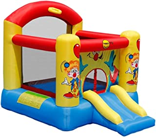 Happy Hop- Clown Slide and Hoop Bouncer, Multicolor (9304Y)