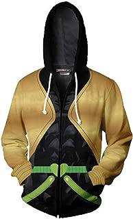 JoJo's Bizarre Adventure Jotaro Kujo Hooded Sweater 3D Printed Kujo Jotaro Zipper Coat Jacket Hoodie