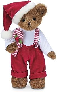 Bearington Christopher Cane Christmas Stuffed Animal Teddy Bear Toy, 14 inches