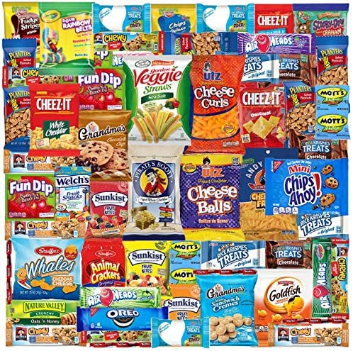 Care Package 52 Count Ultimate Sampler Mixed Box Cookies Chips Candy Snacks Box for Office Meetings product image