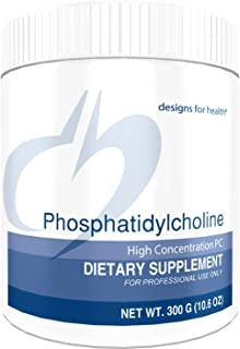 Designs for Health Phosphatidylcholine Powder - 4g from 10g Lecithin for Brain + Liver Support (30 Servings / 300g)