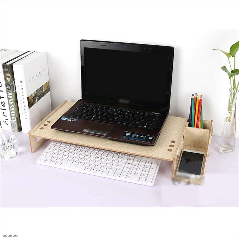 MMADD Estante de almacenaje del Teclado, Monitor LCD de la Altura del Ordenador portátil Escritorio de Oficina,B