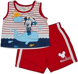 b28f787f59 Disney Mickey Mouse - Completo t-Shirt e Pantaloncini per Neonato Rosso