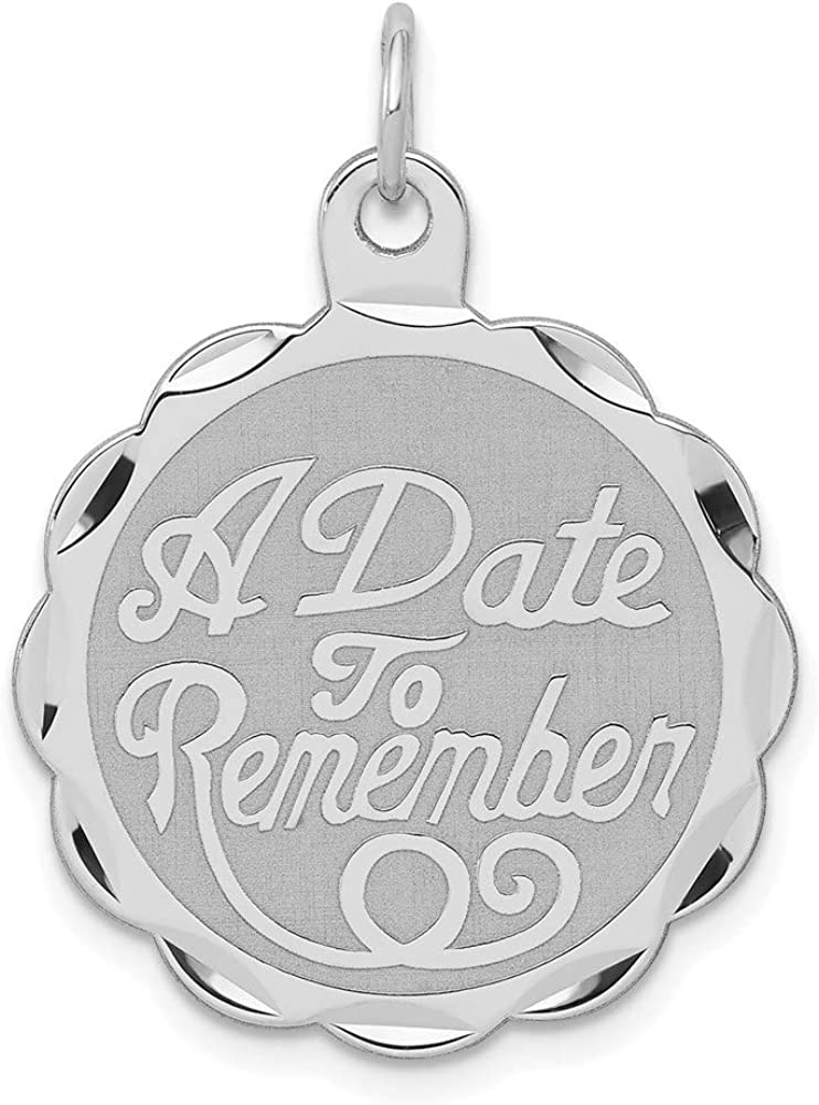 Carat in We OFFer at cheap prices Max 46% OFF Karats Sterling Silver Rhodium-Plated A Remembe Date to