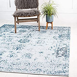 Unique Loom Sofia Collection Traditional Vintage Light Blue Home Décor Square Rug (8' x 8') (B076VYR9ZB) | Amazon price tracker / tracking, Amazon price history charts, Amazon price watches, Amazon price drop alerts