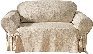 SureFit Scroll Sofa 1 Piece Slipcover, Champagne