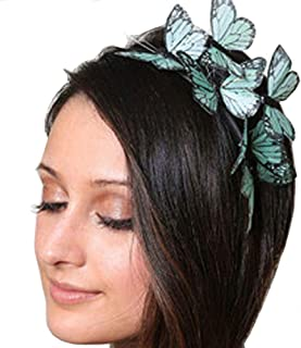 Alove Ditto Butterflies Headband Hair Accessories Headpiece for Ladies and Women Wedding or Party Performance