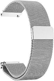 Cinturino in Acciaio Inossidabile,Cinturino con Chiusura Magnetico in Metallo Cinturini di Ricambio Regolabile per Uomo e ...