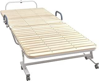 タンスのゲン 折りたたみベッド シングル すのこギッシリ31枚 エコ塗装 低ホル ナチュラル 68190003 WH