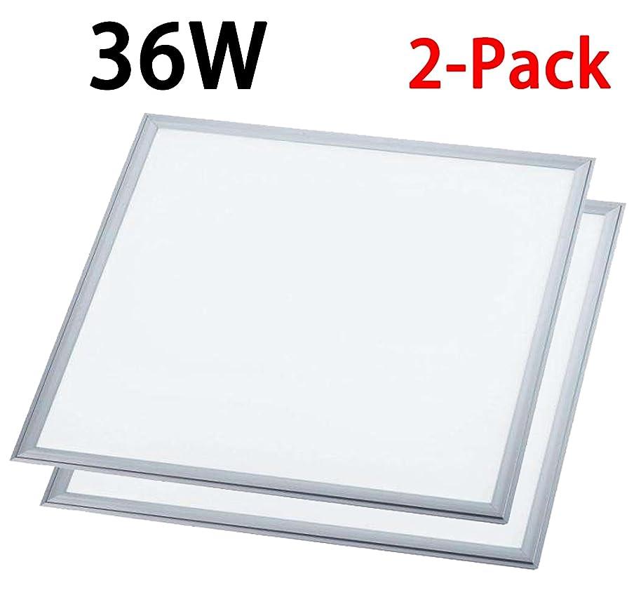 1000LED LED Traffer Flat Panel Light 36W 2ft x 2ft 4680Lm 4000K 0-10V Dimmable AC110-277V 2-Pack