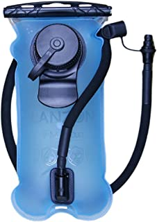 LANZON 2L / 2 Liters 3L / 3 Liters Hydration Water Bladder (NO Cleaning Kit) - Leakproof Reservoir, FDA Approved, Hiking Bladder