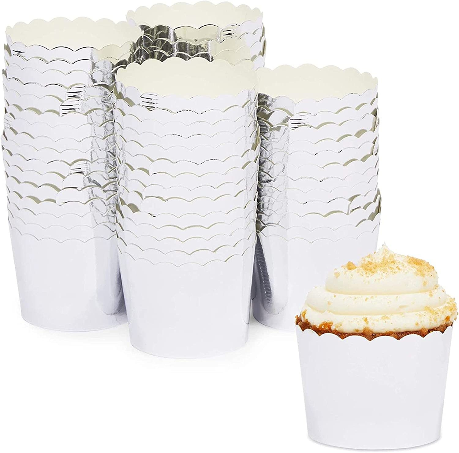 National products Silver Cupcake Liners Metallic Foil Cups Baking Cheap bargain Muffin 2.3 for