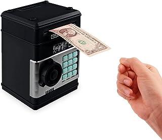 Frontoppy Huchas con Contador, Hucha Dinero Bancos,uchas Dinero Originale, sElectrónica Digital Mini ATM Ahorro de Bancos, Cajas de Ahorro de la Moneda, Juguetes de los Regalos para Niños con Sonido